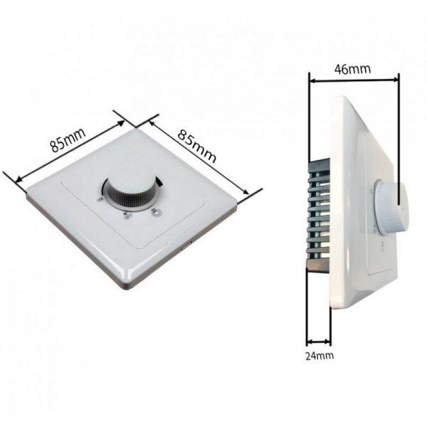 Regulador LED Triac de pared 600W Dimmer AC 220V medidas