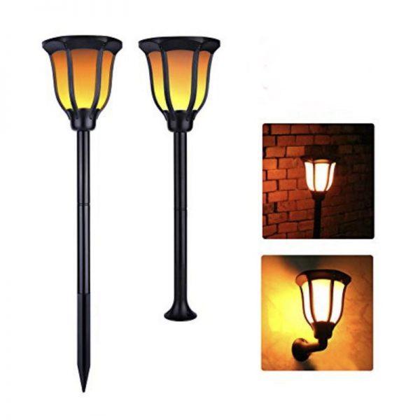 Farol solar LED estilo retro luz cálida 2200k 3