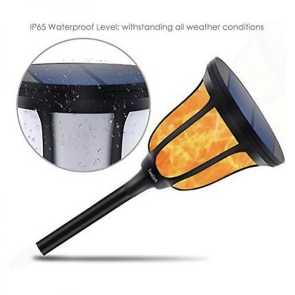 Farol solar LED estilo retro luz cálida 2200k 4