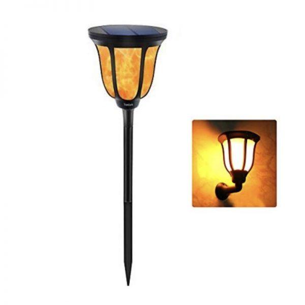 Farol solar LED estilo retro luz cálida 2200k