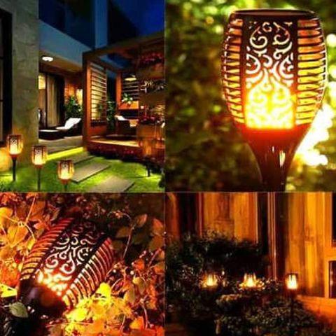 Antorcha solar de jardín LED 4