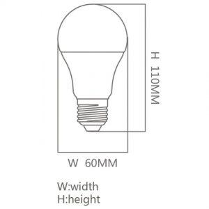 Bombilla LED E27 12w A60 300º en luz fría, neutra o cálida 1