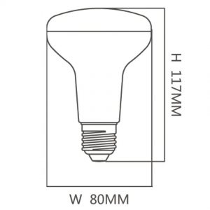 Bombilla LED PAR 12w E27 R80 120º 1