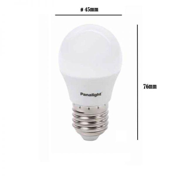 Bombilla LED E27 4w G45 Panasonic en luz cálida o neutra 3