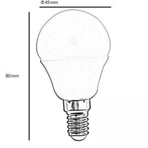 Bombilla LED E14 5w 270º luz cálida 1
