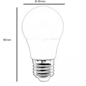 Bombilla LED E27 5w 270º en luz cálida 1
