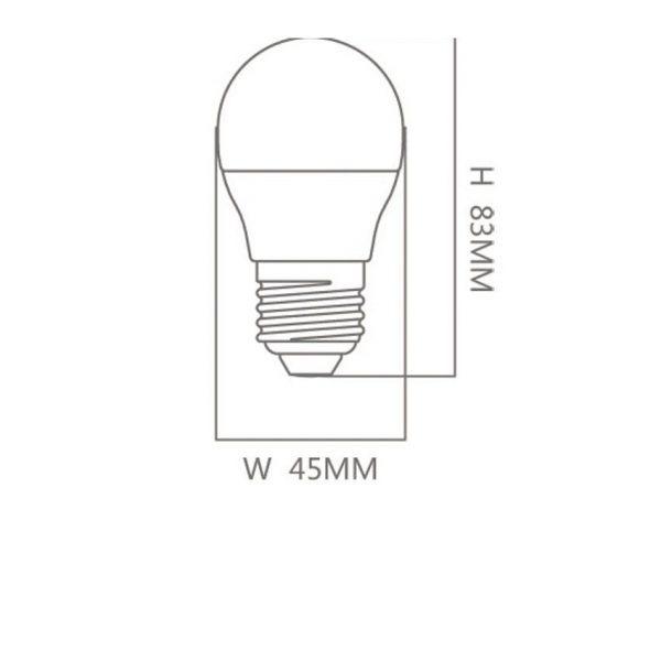 Bombilla LED E27 G45 6w 300º en luz cálida, neutra o fría 1