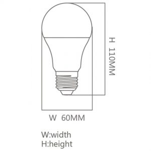 Bombilla LED E27 9w 300º A60 en luz cálida o fría 1
