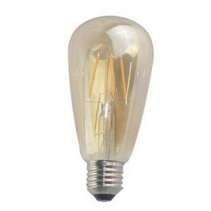 Bombilla LED E27 retro 4w 360º luz cálida