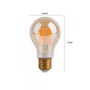 Bombilla LED A60 vintage 4w E27 luz cálida 1