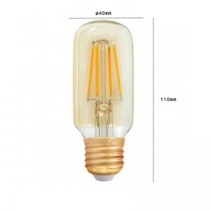 Bombilla LED E27 retro 4w T45 luz cálida 1