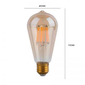 Bombilla LED vintage E27 6w luz cálida 1