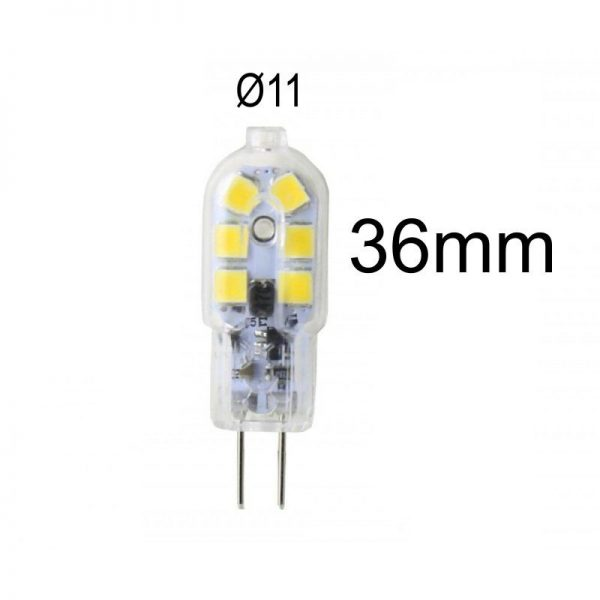 Bombilla LED G4 2,5W luz neutra 4000K 12V 1