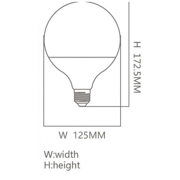 Bombilla LED E27 18w tipo globo en luz fría, neutra o cálida 1