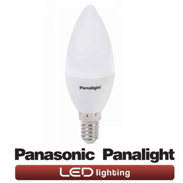 Bombilla LED E14 4w vela Panasonic en luz cálida o neutra 1