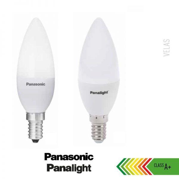 Bombilla LED E14 4w vela Panasonic en luz cálida o neutra 2