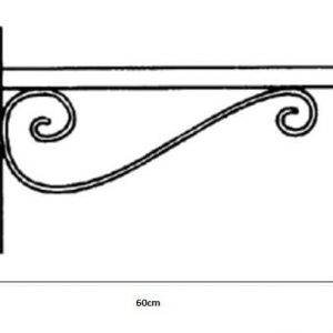 Brazo pared para luminaria alumbrado publico o farola de acero 60cm 1
