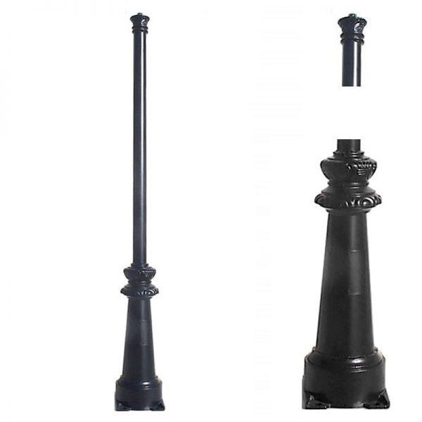 Columna estilo clásico para farola de 3m hecha en acero 2