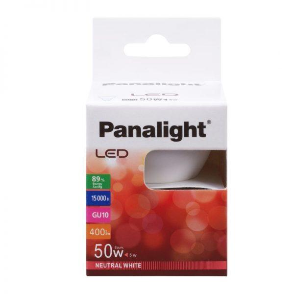 Bombilla dicroica LED GU10 5w Panasonic en cálida o neutra 3