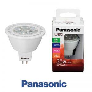 Bombilla LED GU5.3 (MR16) 5w Panasonic en luz neutra o cálida 1