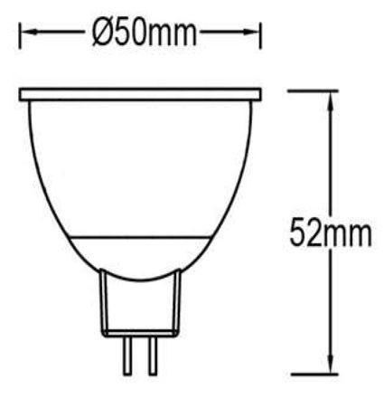 Bombilla LED GU5.3 (MR16) 5w Panasonic en luz neutra o cálida 6