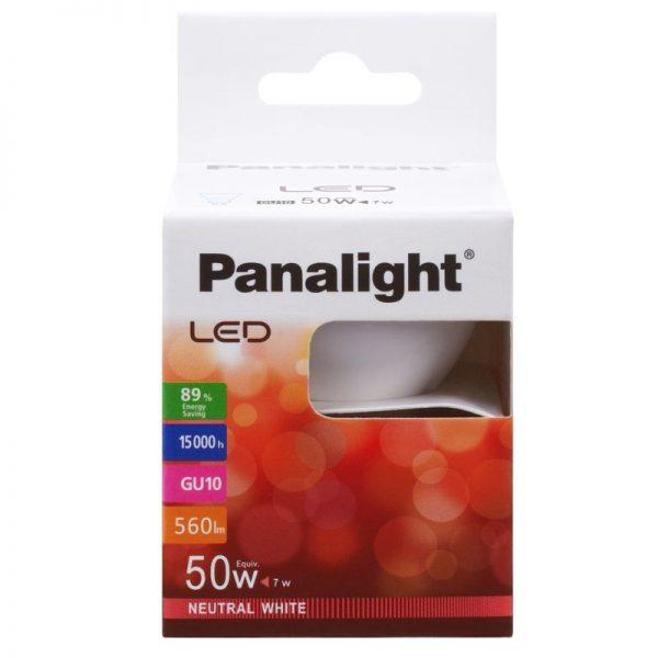 Bombilla LED GU10 7w Panasonic en luz cálida o neutra 4