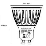 Bombilla LED GU10 cerámica 9w 24º Bridgelux luz cálida, neutra o fría 3