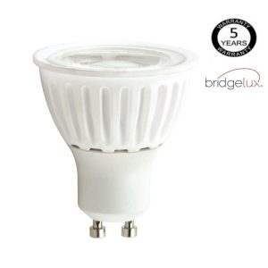 Bombilla LED GU10 cerámica 9w 24º Bridgelux luz cálida, neutra o fría