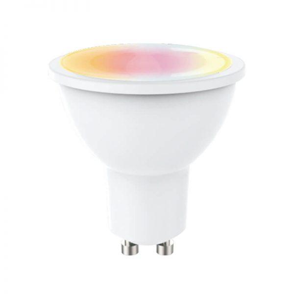 Bombilla LED GU10 RGB+W 5w con mando 1