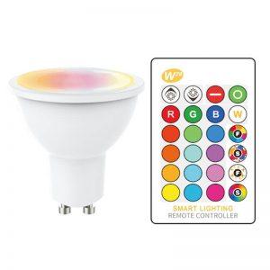 Bombilla LED GU10 RGB+W 5w con mando