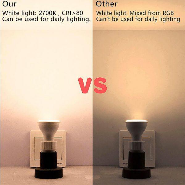 Bombilla LED GU10 RGB+W 5w con mando 7