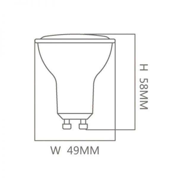 Bombilla LED GU10 6w 120º en luz cálida, neutra o fría 3
