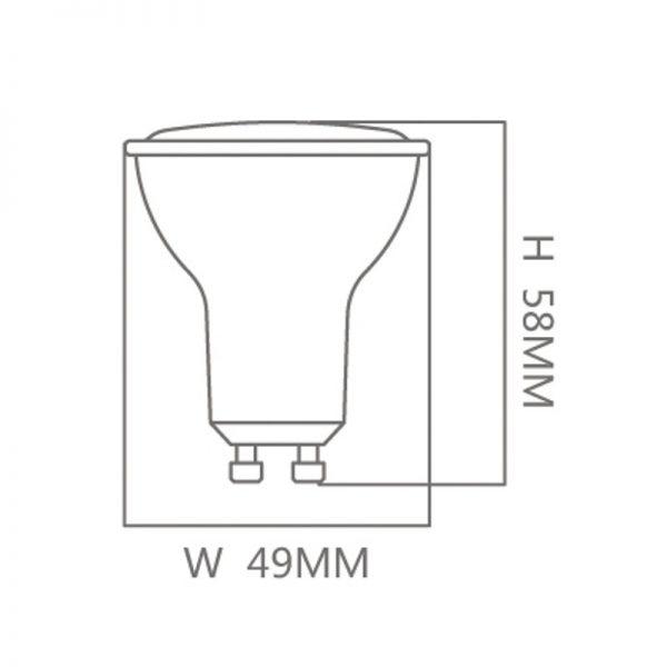 Bombilla LED GU10 6w 38º en luz cálida, neutra o fría 2