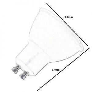 Bombilla LED GU10 para uso intensivo 6w en luz cálida, neutra o fría 1