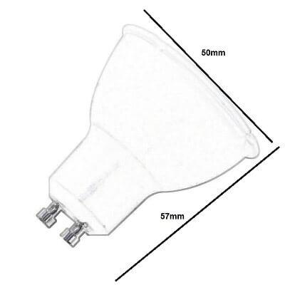Bombilla LED GU10 regulable 6w en luz cálida, neutra o fría 1