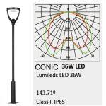 Farola Philips Conic Lumileds 36w luz neutra 160lm/w 1