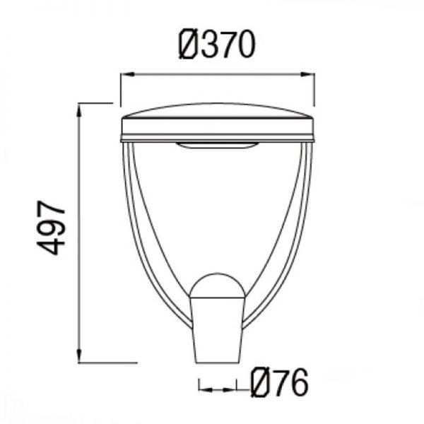 Farola Philips Conic Lumileds 36w luz neutra 160lm/w 2