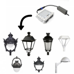 Farola LED estilo clásico 40w Lumileds de aluminio 10