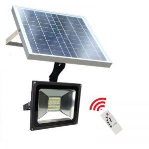 Foco LED solar 20w con mando IP65 6000k 1850lm