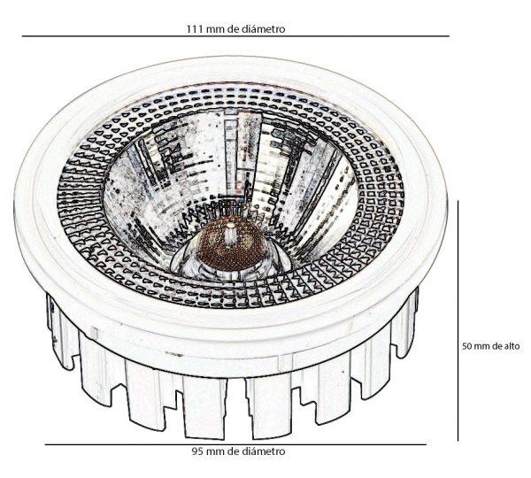Bombilla LED AR111 20w 60º en luz cálida, neutra o fría 2