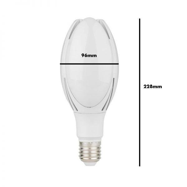 Bombilla LED para farolas de alta resistencia E27 30w 2