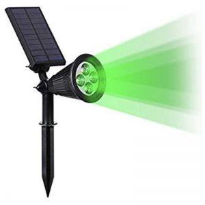 Foco solar luz verde giratorio 180º con estaca 1