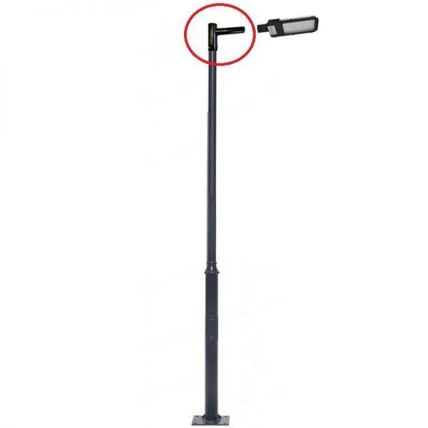 Soporte para farola LED hecho en acero 2