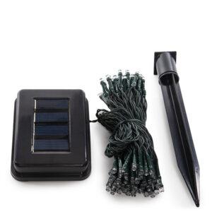 Guirnalda Solar 100 Luces 12M IP44 Fijo/Intermitente Azul