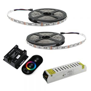 Kit tira LED 10 metros RGB IP65