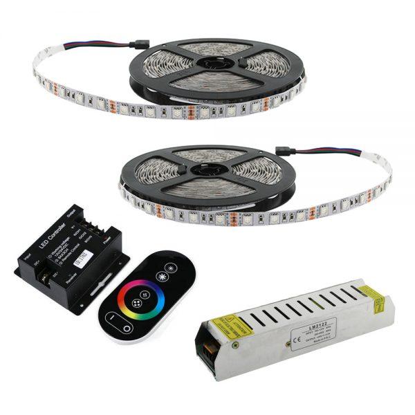 Kit tira LED 10 metros RGB IP65