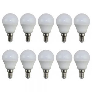 Pack 10 bombillas LED E14 7w 270º en luz fría o cálida