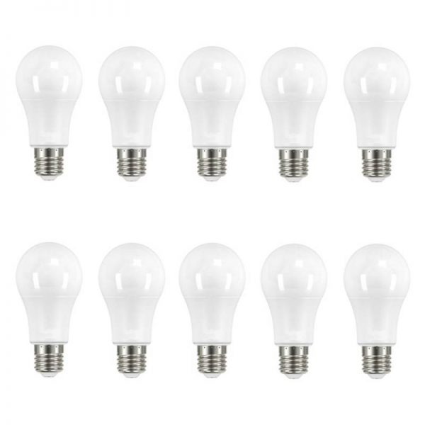 Pack 10 bombillas LED E27 10w A60 240º en luz fría, neutra o cálida
