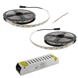 Tira LED 10 metros en luz cálida, fría, neutra, verde , azul o roja