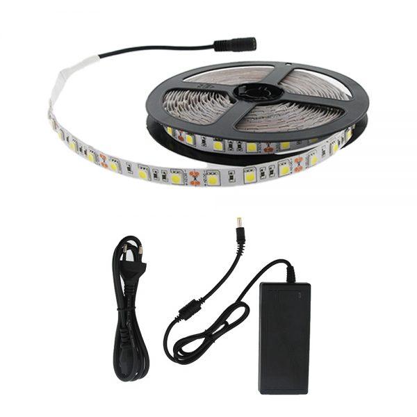 Tira LED con enchufe en luz cálida, fría, neutra, verde , azul o roja